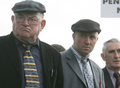 Jackie Healy-Rae (L) and his son Michael (File photo)