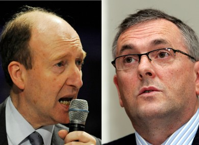 Shane Ross (left) and John McGuinness will go head-to-head to become the chairman of the Dáil's Public Accounts Committee.