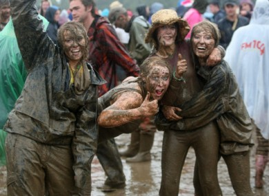 Fans brave the mud at Oxegen 2010.