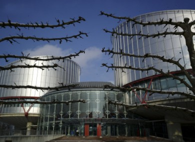 Outside view of the European Court of Human Rights, in Strasbourg, eastern France.