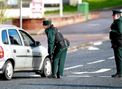 PSNI officers stop a car in the days after Ronan Kerr's murder
