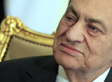 Hosni Mubarak in February of this year.