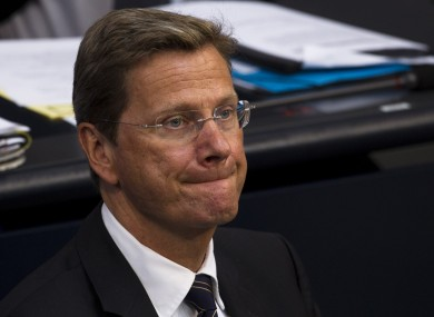 Let's hope Guido Westerwelle's reception for Eamon Gilmore is a little more enthusiastic.