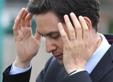 A head in hands moment for Miliband.