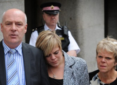Milly Dowler's parents and sister outside the Old Bailer court in London on 24 June.
