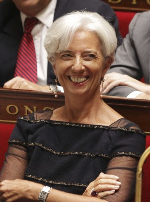 The IMF's new managing director Christine Lagarde smiles during her final appearance at the French National Assembly last week.