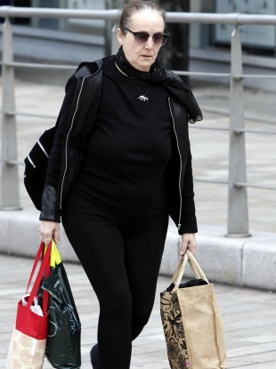 Hazel Maddock arrives at court this morning.