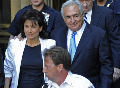Dominique Strauss-Kahn and his wife Anne Sinclair recently.