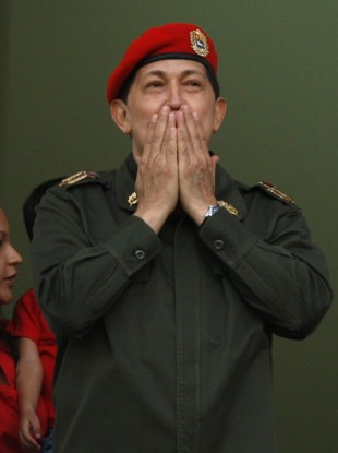 Hugo Chavez greets supporters upon his return to Venezuela earlier this month.