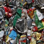 Scrap metal is processed for recycling at Ed Arnold Scrap Processors in Corfu, New York state (AP Photo/David Duprey)