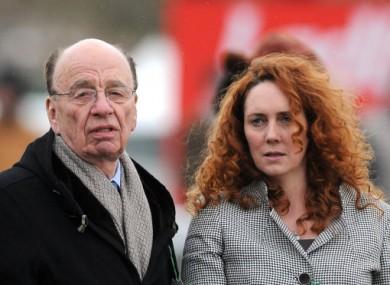 News Corp magnate Rupert Murdoch and News International chief Rebekah Wade.