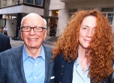 Rupert Murdoch and Rebekah Brooks in London recently.