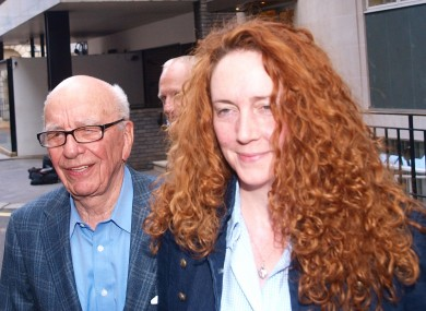 Rebekah Brooks with Rupert Murdoch at his London flat yesterday
