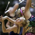 Participants at the US Baton Twirling Championships in Little Rock, Arkansas (AP Photo/Danny Johnston)
