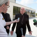 Cardinal Sean Brady speaks after the release of the Cloyne report in Portadown, Co Armagh (Paul Faith/PA Wire)
