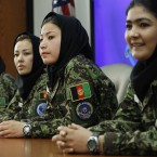 Four Afghan women in training to be military pilots at Lackland Air Force Base, Texas. (AP Photo/Eric Gay)