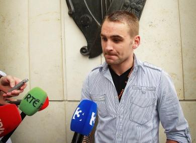 Derek Mulligan speaks to the media after Ferry's conviction