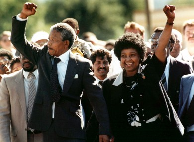 Mandela on his release from prison