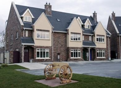 File photo of homes in Dublin