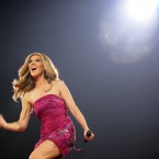 Celine Dion performsat the Bell Centre in Montreal on 15 August, 2008. Pic: AP Photo/The Canadian Press, Graham Hughes