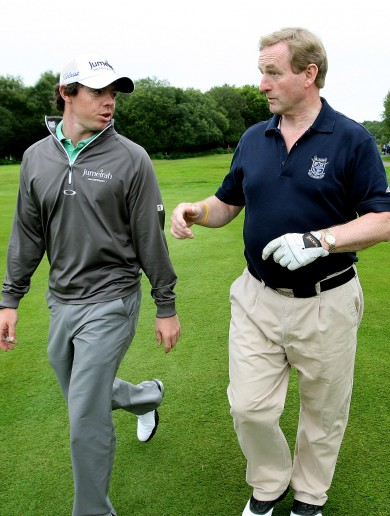 Caption comp: Tee-shock Enda takes a swing at Rory glory