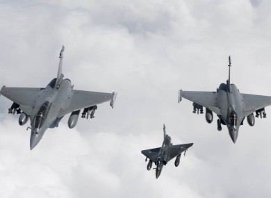 NATO aircraft fly over Libyan skies