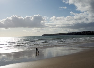 File photo of walkers on Tramore beach