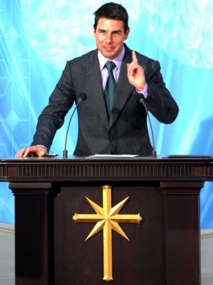 US actor Tom Cruise, a well-known Scientologist, makes a speech during the official opening of a new Scientology church in central Madrid.