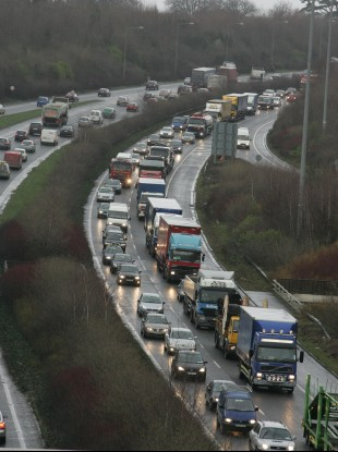 Traffic on the M50 (File Photo)