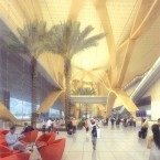 An artist's impression of the departure hall at the new airport.