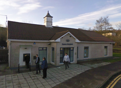 The Bank of Ireland branch in Glanmire, where this morning'