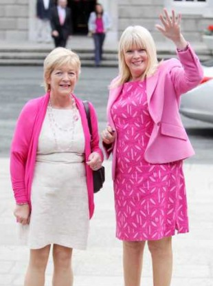 Anne Ferris and Mary Mitchell O'Connor are two of only 25 female TDs in the Dáil, out of a total 166