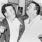 Brendan Behan with the actor Jackie Gleason. 