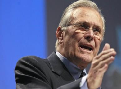 Former US Defence Secretary Donald Rumsfeld
