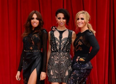 The current Sugababes line-up -