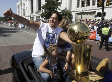 Cuban basking in the Maverick's 2011 victory.
