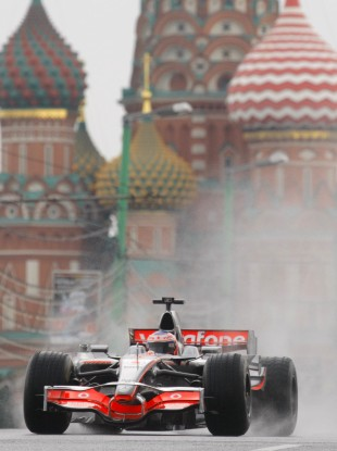 Jenson Button at the Bavaria City Race event in Moscow earlier this year.
