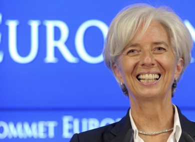 Christine Lagarde's last three months as French finance minister saw the domestic economy stagnate, with 0 per cent growth.