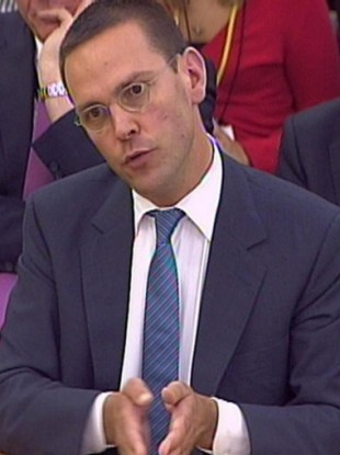 Deputy Chief Operating Officer and Chairman and Chief Executive Officer, International News Corporation James Murdoch giving evidence to the Culture, Media and Sport Select Committee in the House of Commons