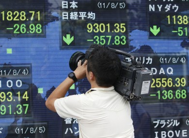 The markets make the news as they open in Asia earlier today.