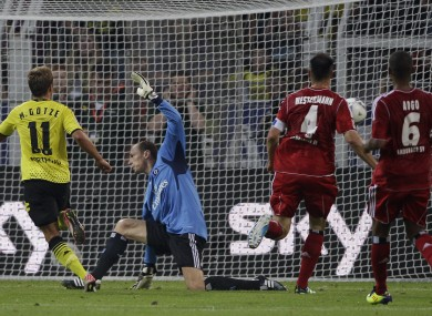 Goetze was on target as Dortmund beat Hamburg.