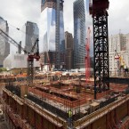 Progress on the Three World Trade Centre building at the World Trade Centre site in New York. (AP Photo/Mark Lennihan)