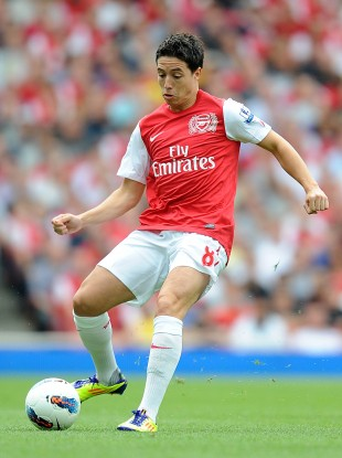 Nasri played in Arsenal's 2-0 defeat to Liverpool at the weekend.