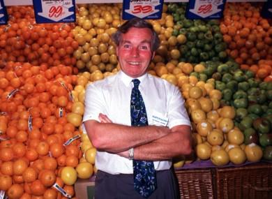Feargal Quinn poses in a Superquinn supermarket i