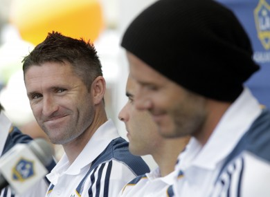 Keane and Beckham in LA on Friday