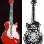Somalia has produced various sets of commemorative coins to sell to collectors and investors to raise funds over the years.   In 2004, the African country minted coins in the shape of various guitars to celebrate rock-and-roll music and mark the 50th anniversary of the Fender Stratocaster guitar.