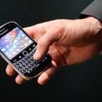 The new BlackBerry Bold 9900 at the global launch of Research In Motion's BlackBerry 7 smartphones. Image: Matt Crossick/PA