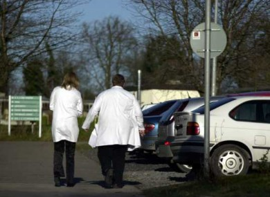 Doctors at Connolly Hospital in Dublin face a long walk to their cars if they refuse to learn about washing their hands