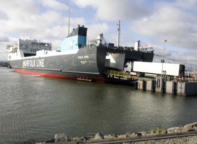 Ships exporting goods from Dublin Port