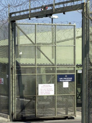 File photo of the front gates of Maghaberry Prison near Lisburn in Co. Antrim